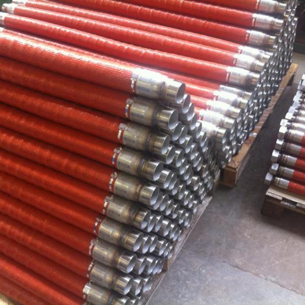 Close up of Metal Hoses