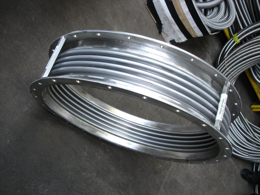 Close up circular metal bellow arcflex